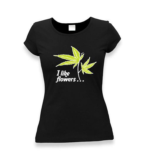 Ganja flower - dámské tričko s potiskem