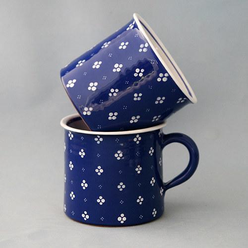 Kafáč 10 cm 4puntík modrý 0,5L