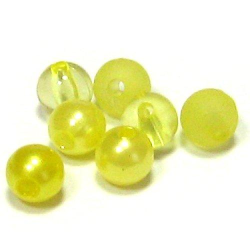 Směs perel a korálků - žlutá - 50 ks