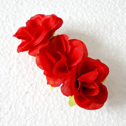 Květinová spona - červená růže
