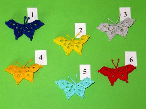 Háčkovaní motýlci 3D