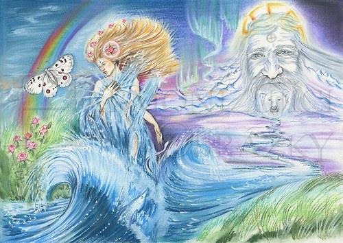 Všehomír Stvořitel a Života-dárkyně, formát A4