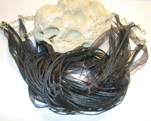 Šňůrka s organzou - černá