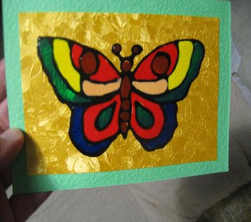 """Přání \"""" Motýl \"""""""