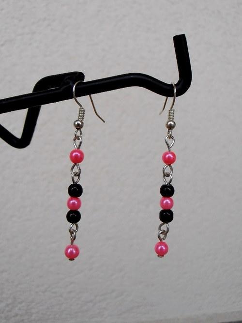 Černo-růžové perličky 2