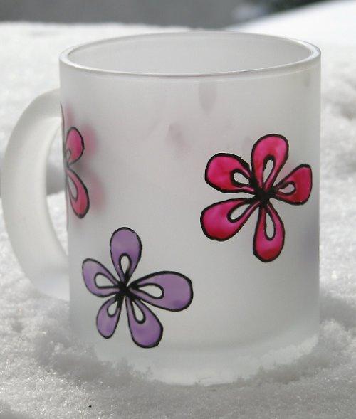 Hrnek - květinky