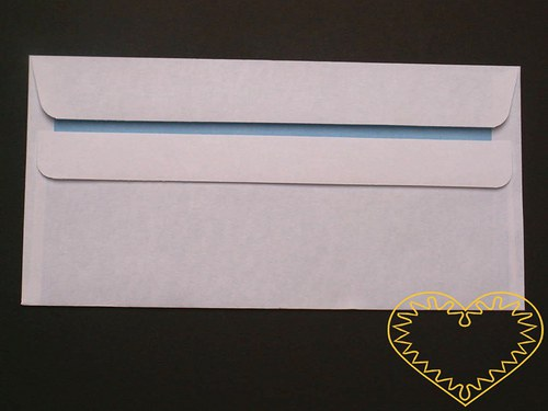 Podlouhlá bílá obálka DL samolepící - sada 30 ks