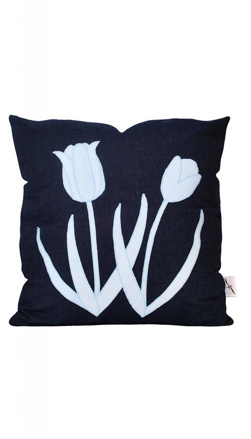 Povlak na polštář - Tulipány 50 x 50 cm