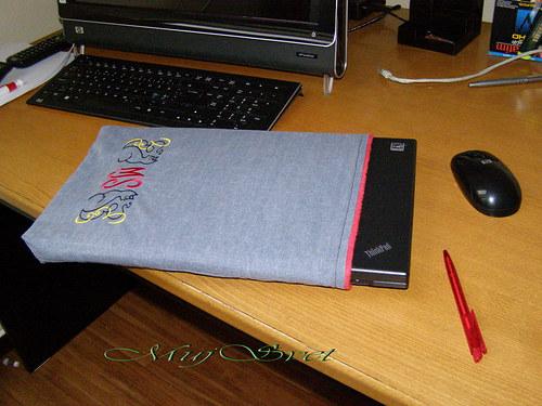 Čiči - Pouzdro na notebook s monogramam