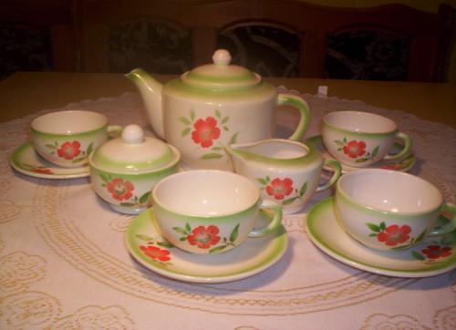 Starožitný čajový servis zn. TTT (Teplice)