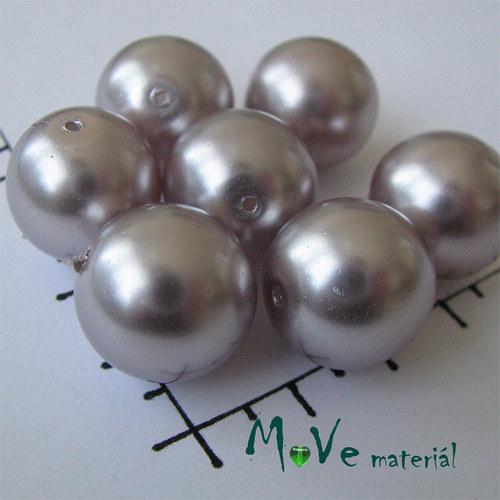 České voskové perle šedorůžové 16mm, 4ks