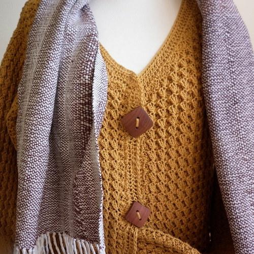 Horčicový kabátko-svetr