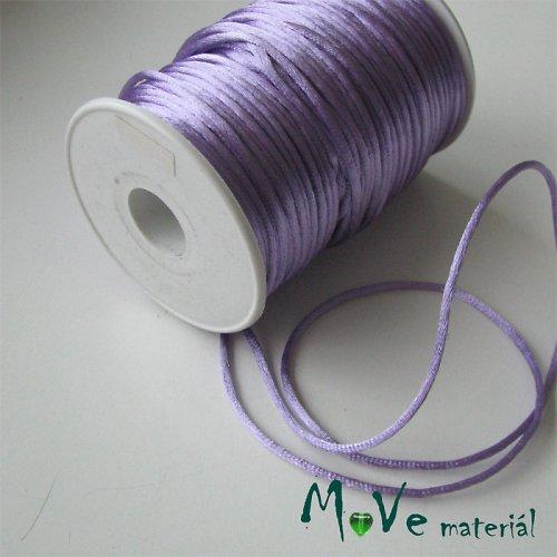 Šňůra Ø2mm saténová, sv. fialová, 1m