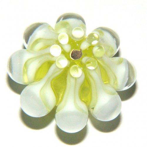 Vinutá perle - EXKLUZIV - žluto-zelená