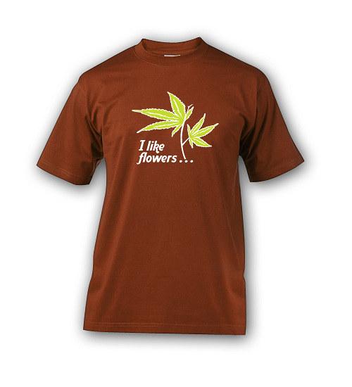 Ganja flower - tričko s potiskem