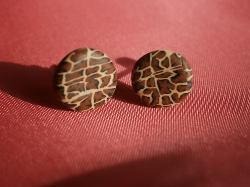 Náušnice s leopardím vzorem
