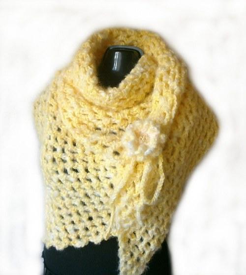 Háčkovaný pléd,šátek,pončo