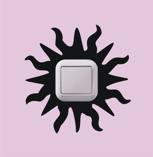Samolepka k vypínači - Slunce