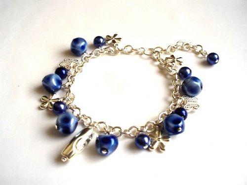 Náramek Blue Pearls