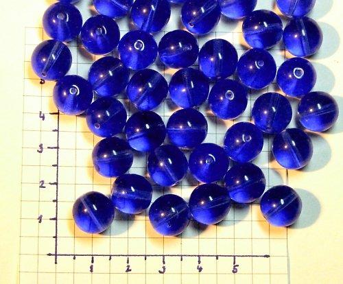 Modré korálky 12 mm, jedno balení = 5 ks
