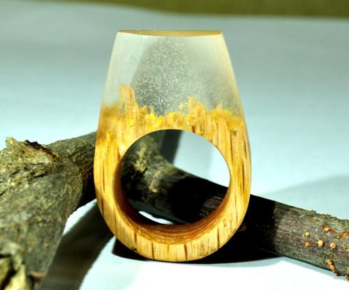 Drevený prsten Rita