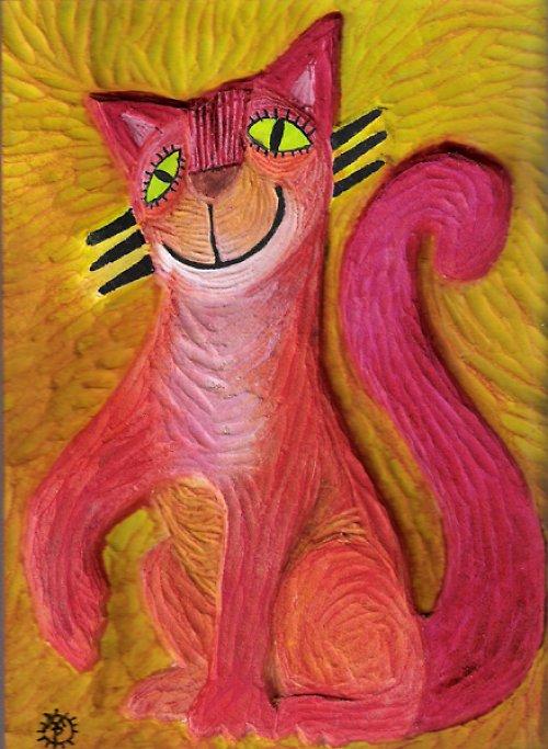 Kočička - obrázek pro nevidomé