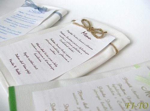 Menu na svatební tabuli