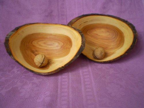 Jabloňové misky prírodné s kôrou SET