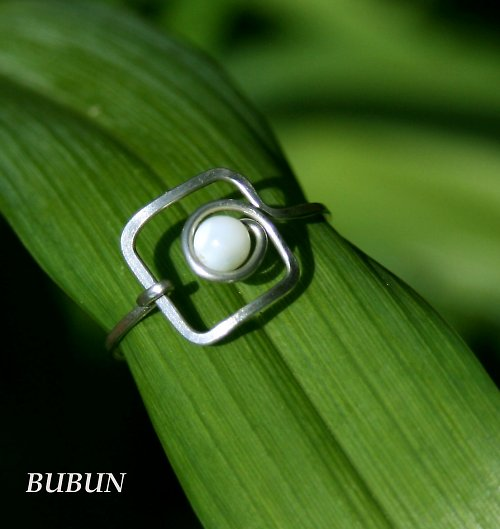 Prsten Perleťový čtvereček