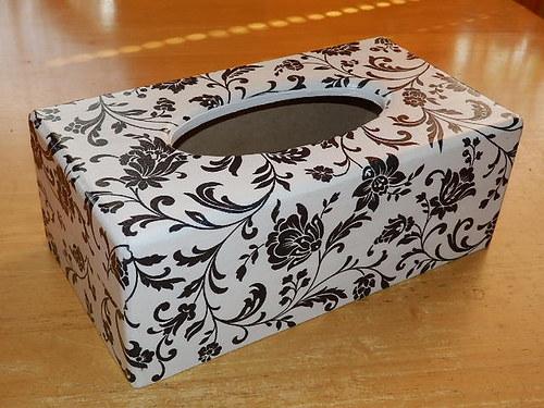 Krabička na kapesníky Bíločerná
