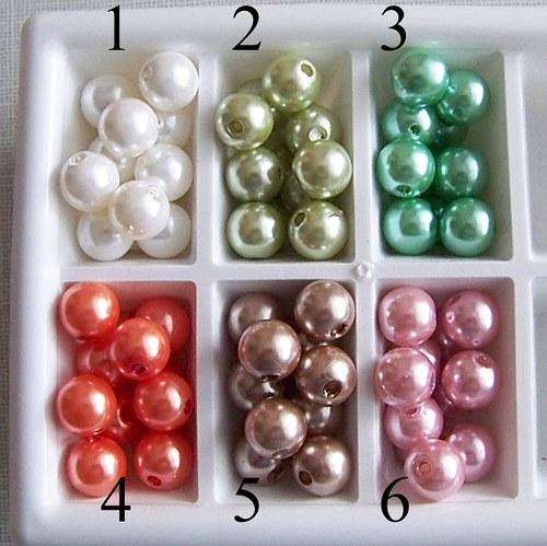 perly voskové/ zelená oliv. č.2/ 11,5mm/ 6ks
