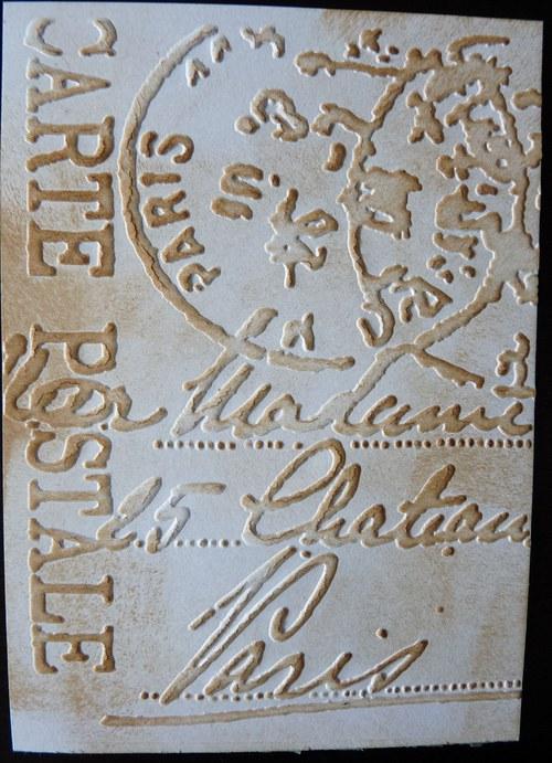 Embossovaný polotovar k dotvoření - Carte postale