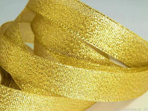 Stuha lurexová š.17mm zlatá