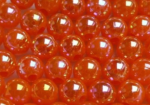 Plastové kuličky duhové 4 mm - oranžová / 20 ks