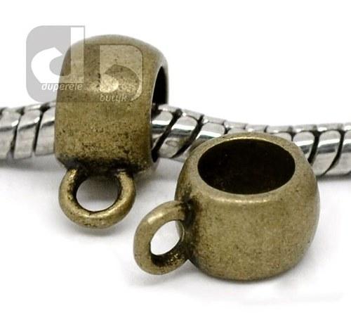 Bronzový korálek s očkem 2 ks