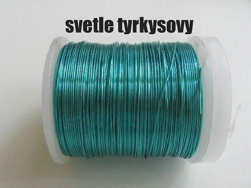 Měděný drát-sv.tyrkysový tl.0,3 mm/50m