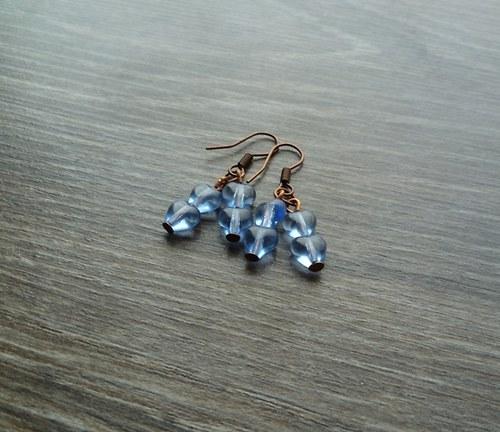 Modré náušnice I