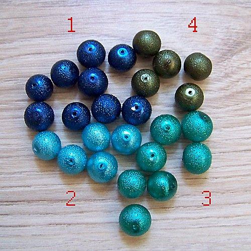 vroubkované voskové perly/ khaki č.4/ 12mm/ 5ks