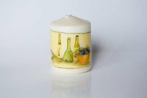 Svíčka s olivami