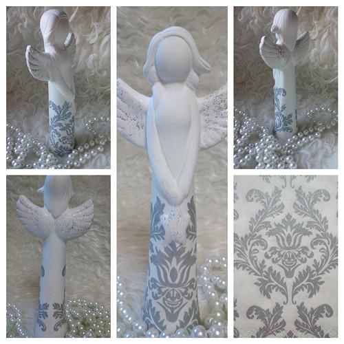 Anděl s hvězdičkou - stříbrný potisk