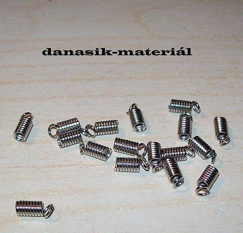 PRUŽINKY NA KŮŽI  PLATINOVÉ 8x4 mm - 10 ks