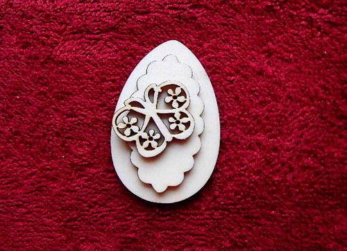 3D zápich na špejli vejce+vyř.motýl-3ks