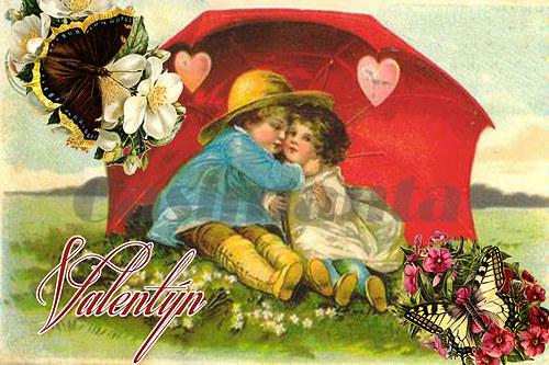 Valentýn 2 - vintage motiv