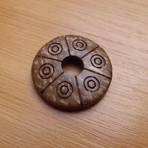 Kokosové kolečko  - 3cm - přírodní
