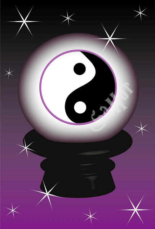Jing jang ilustrace II, lampa, obrázek - ilustrace