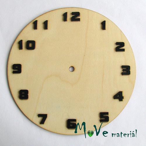 Hodinový ciferník 20cm dřevěný