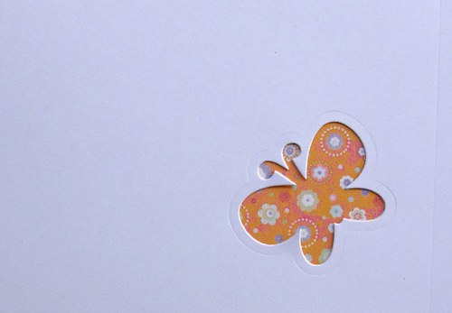Stránka s motýlkem na výšku - barva podle přání