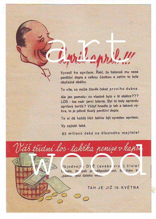 APRÍL - reklama na loterii  - číslo 156
