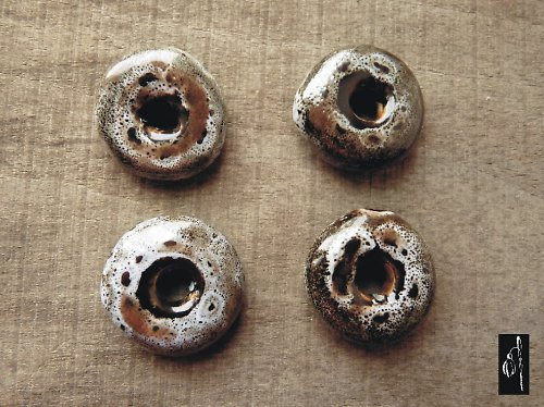 Keramický donut šedý, 27 mm, 1 ks, sleva