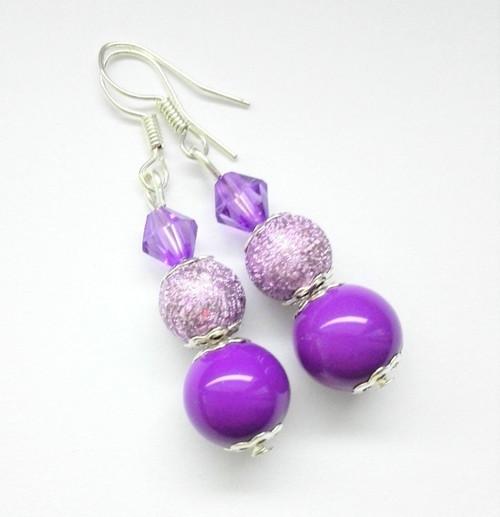 Náušnice fialové